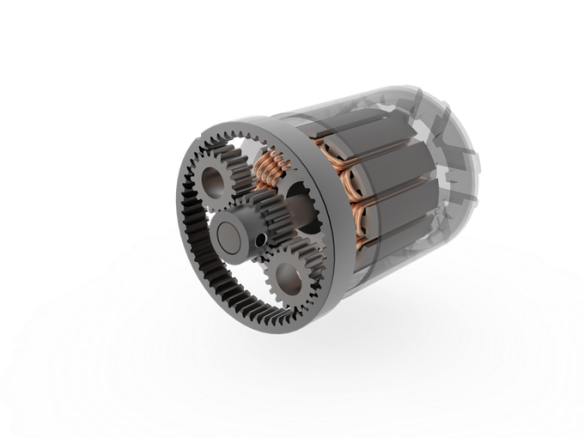 This is a cutaway of the new Stary geared eskateboard hub motor